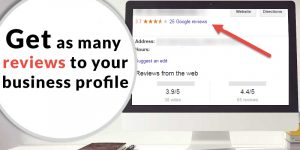 reviews to your business profile