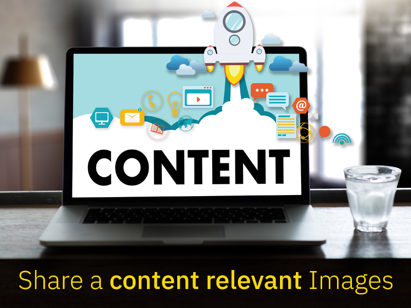 Share a content relevant Images